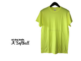 Custom Gildan Yellow Cotton Short Sleeve T-Shirt