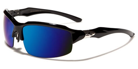 ARCTIC BLUE SEMI-RIMLESS SUNGLASSES