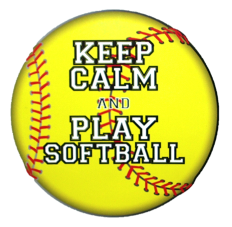 Keep Calm and Play Softball Magnet