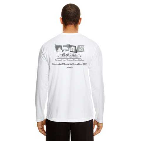 White Performance T-Shirt with Black and White design