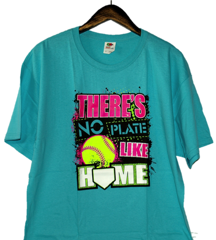 """There's no plate like home"" Graphic Short-Sleeve T-Shirt"