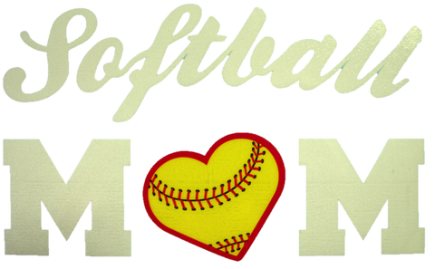 Softball Mom Vinyl Decal