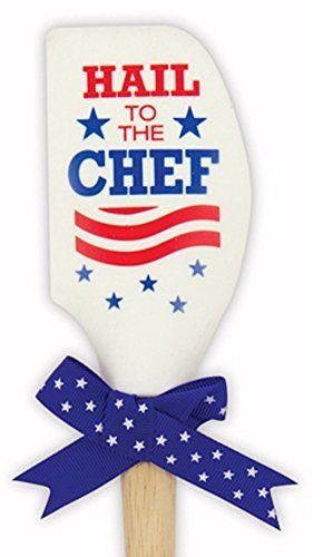 Hail To The Chef Silicone Wood Spatula Red White Blue