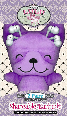 Sugar Lulu Best Buds: Shareable Earbuds Technology, Purple, 4.625 x 8 x 1.5""