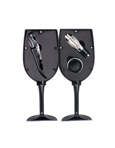 Mimo Style 4-Piece Wine Glass Accessory Set - The Red Store .org