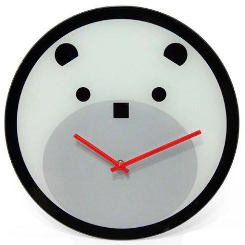 Bearly Time Glass Clock - The Red Store .org