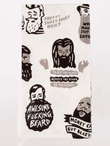 Awesome F*****  Beard Dish Towel