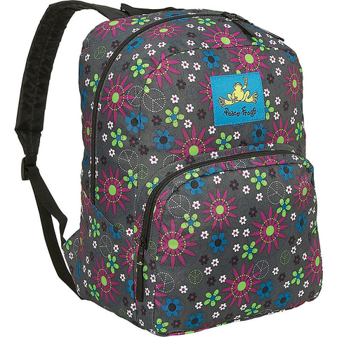 Day Trippin Backpack in Gray Flower Power Print
