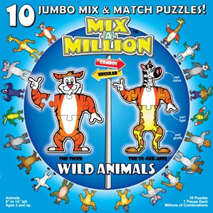 Mix-A-Million 10 Jumbo Mix and Match Puzzles - The Red Store .org