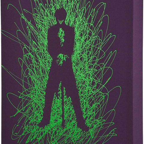 Joker Silhoutte Paint Splatter Canvas