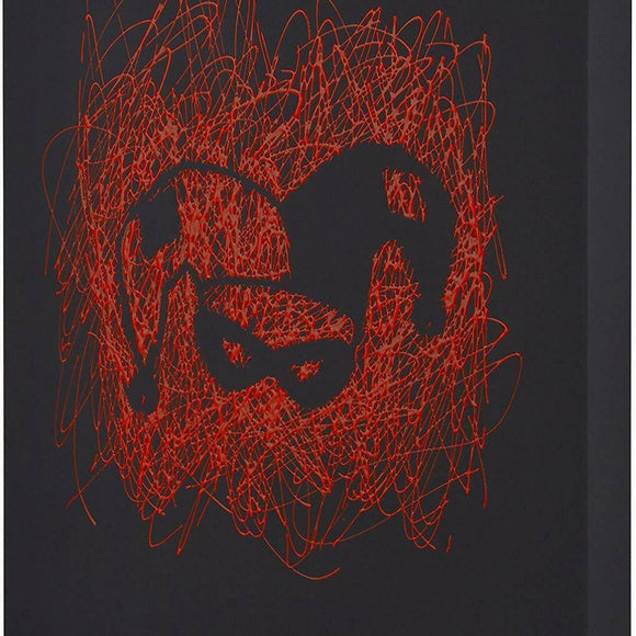 Harley Quinn Face Paint Splatter Canvas