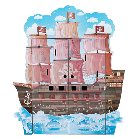 Kids Pirate Ship Play Set with Figurines - The Red Store .org