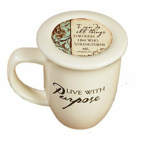 Live with Purpose' Mug & Lid