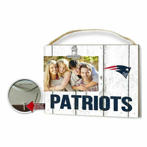 Clip It Weathered Logo Photo Frame New England Patriots - Free Shipping