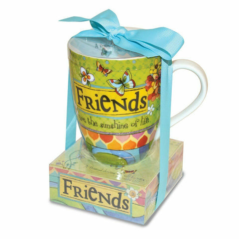 Ceramic Mug and Memo Pad Friends, Multicolor