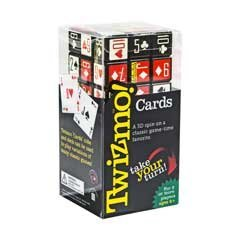 Twizmo! Cards - Family Strategy Poker Card Game with Twist Cube - Poker in 3 Dimensions!