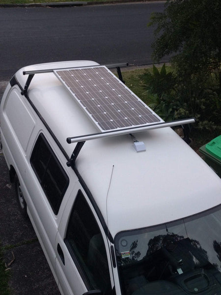 how to set up solar panels for van