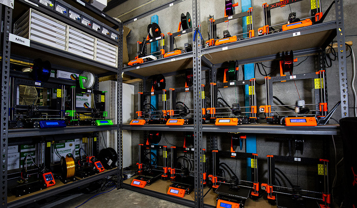 Phaser 3D Printer Farm