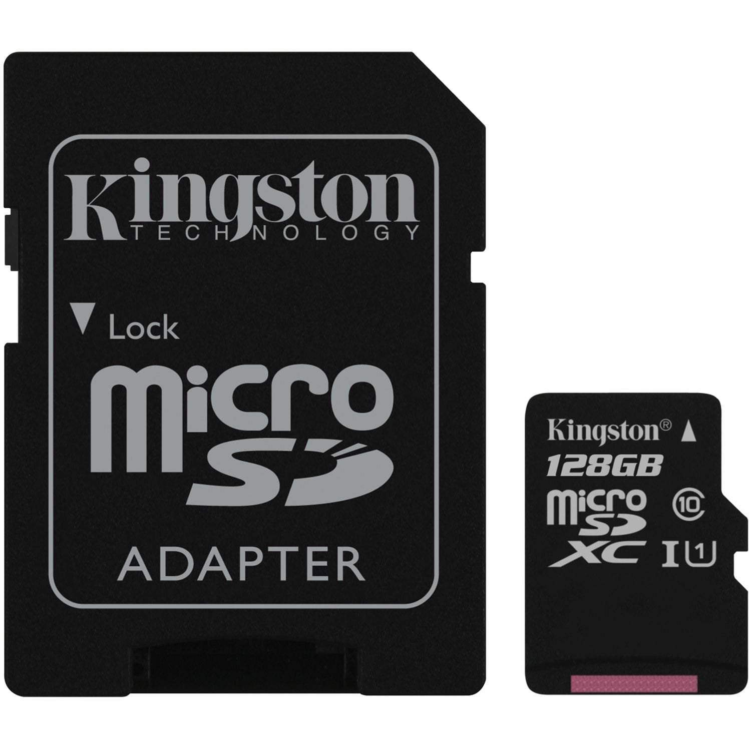 Kingston Micro SD Card 128GB 80R Canvas Select SDCS/128GB
