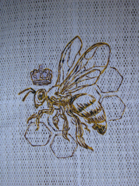 Custom Embroidered Vented Bee Jacket - Medium