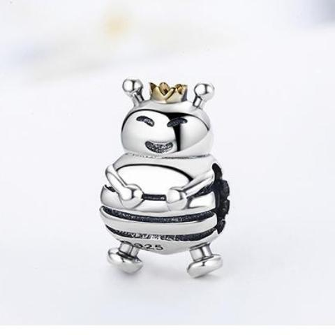 Queen Bee Charm/Bead - Sterling Silver