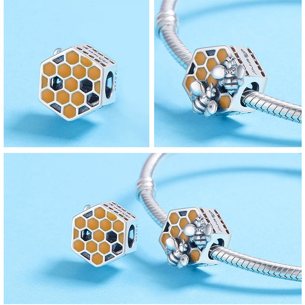 Sweet Honey Comb with Busy Bees Charm