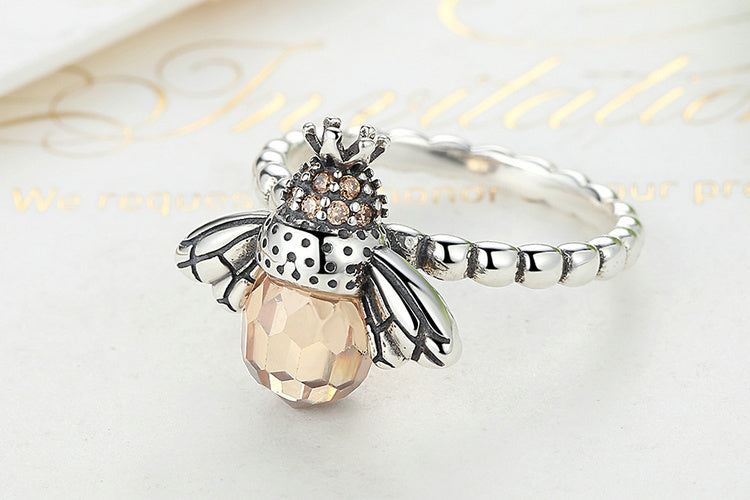 Honeybee Ring - Sterling Silver