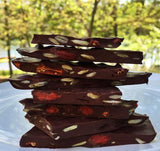 Dark Chocolate Bark with Pumpkin Seeds and Goji Berries
