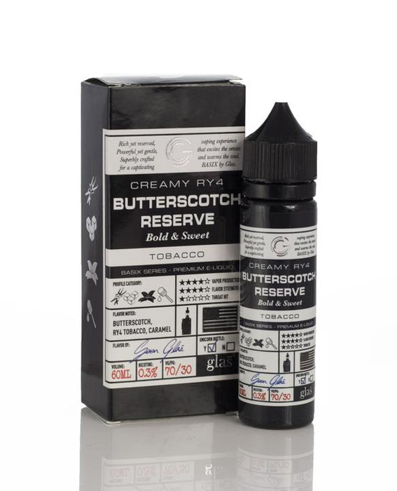 Glas - Basix Butterscotch Reserve E-Liquid - 60ml