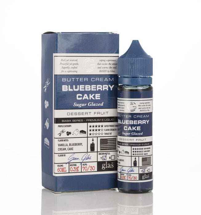 Glas - Basix Blueberry Cake E-Liquid - 60ml