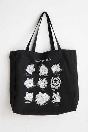 Names for Cats XL Tote - BLACK by Stay Home Club