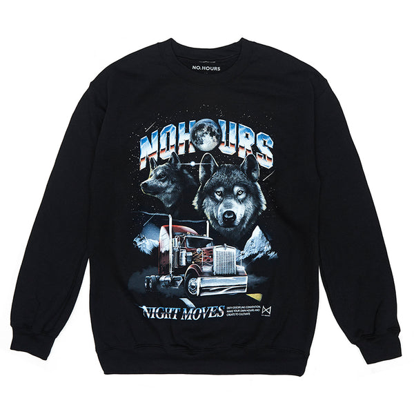Night Moves Crew Sweat by No Hours