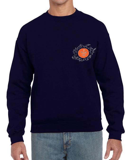 The Archer Navy Sweat Shirt Illustrated Mind