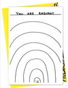 You Are Radiant card by David Shrigley