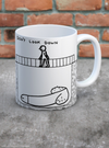 Don't Look Down Mug by David Shrigley