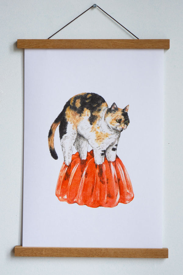 Jell-O Cat Riso Print by Stay Home Club