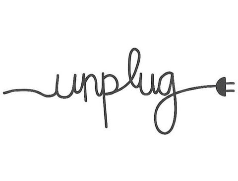 Unplug illustration with pulled out plug