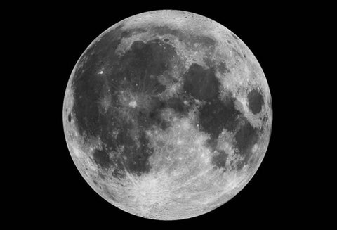 Detailed photo of the moon