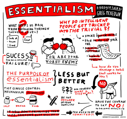 Hand-drawn comic about essentialism