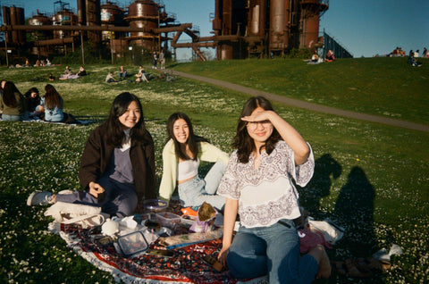 A picnic at Gasworks park in Seattle