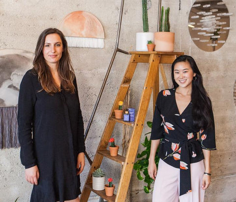 Stephy and Kriszta, founders of Moonlit Skincare