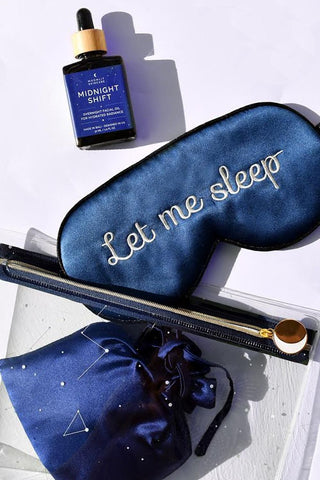 Let me Sleep Eye Mask with pouch and Midnight Shift Oil