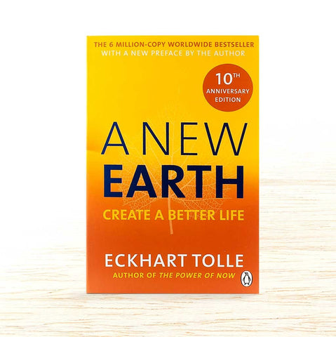 A New Earth by Eckhart Tolle book cover