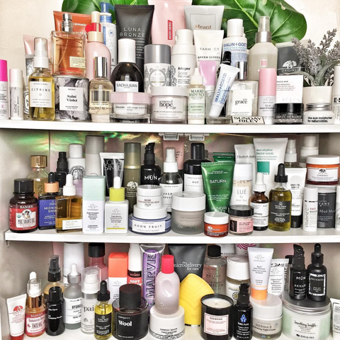 Matt Woodcox's top shelf of beauty, skincare, fragrance products