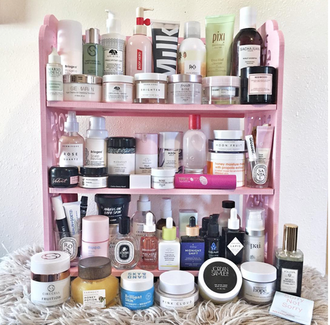 Matt Woodcox's top shelf of beauty and skincare products