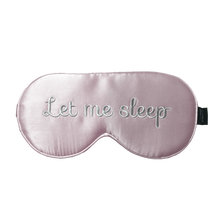 Pink 'Let Me Sleep' Sleeping Eye Mask