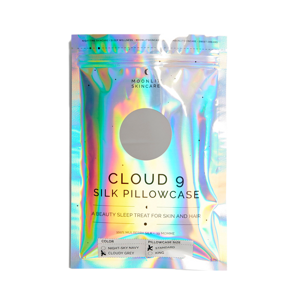 Cloud 9 Silk Pillowcase (Cloudy Grey)