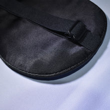 Close-up of adjustable clasp on 'Let Me Sleep' Sleeping Eye Mask.