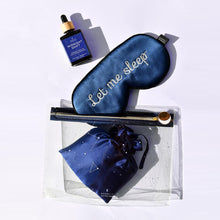 The Ultimate Sleep Kit: contains 'Let Me Sleep' eye mask, Midnight Shift Facial Oil, Constellation Pouch, Silk Pillowcases.