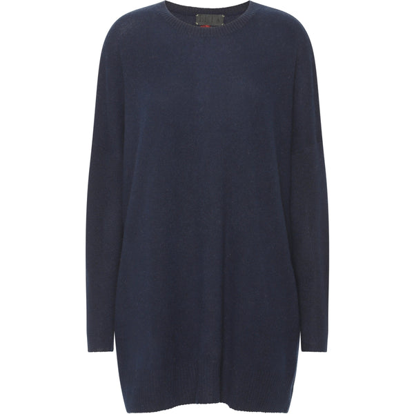 Berta Oversize O-neck - Dark Blue